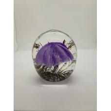 Sculpture dans la masse Méduse violette