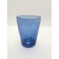 Verre conique bleu médium .